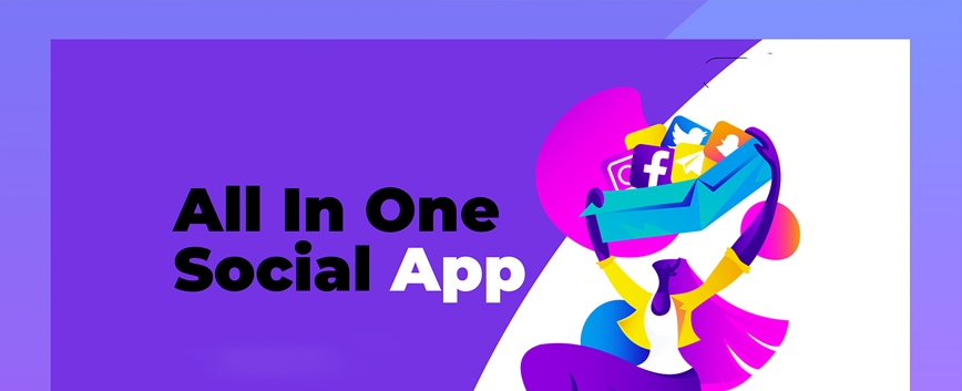 All in One Social App_banner